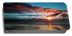 Sunset At Unstad Beach, Norway Portable Battery Charger