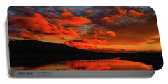 Sunset At Wallkill River National Wildlife Refuge Portable Battery Charger by Raymond Salani III