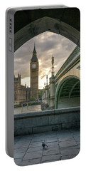 Sunset At Westminster Portable Battery Charger