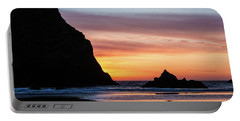 Sunset At Whalehead Beach Portable Battery Charger