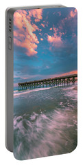 Sunset At Wilmington Crystal Pier In North Carolina Portable Battery Charger