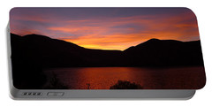 Sunset At Woodhead Campground  Portable Battery Charger