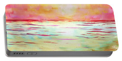 Sunset Beach Portable Battery Charger by Jeremy Aiyadurai