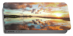 Sunset Beach Reflections Portable Battery Charger
