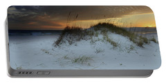 Sunset Behind The Sand Dune Portable Battery Charger
