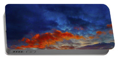 Sunset Burst Portable Battery Charger by Mark Blauhoefer