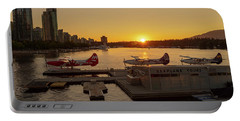 Sunset By The Seaplanes Portable Battery Charger