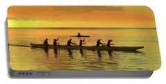 Sunset Canoeists Portable Battery Charger