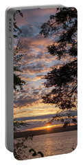 Sunset Caressed By Tree Branch Portable Battery Charger by Mary Lee Dereske