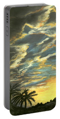 Portable Battery Charger featuring the painting Sunset Clouds by Anastasiya Malakhova