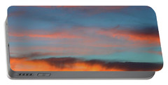 Sunset Clouds In Blue Sky  Portable Battery Charger by Lyle Crump