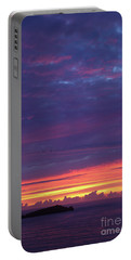 Sunset Clouds In Newquay, Uk Portable Battery Charger by Nicholas Burningham