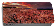 Portable Battery Charger featuring the photograph Sunset Clouds Over Bryce Canyon by John Hight