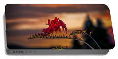 Sunset Crocosmia Portable Battery Charger