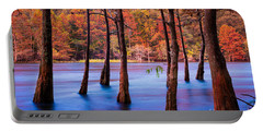 Sunset Cypresses Portable Battery Charger by Inge Johnsson
