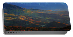 Portable Battery Charger featuring the photograph Sunset During Autumn Below The San Juan Mountains In Colorado by Jetson Nguyen