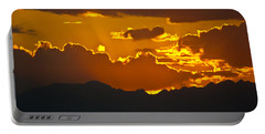 Portable Battery Charger featuring the photograph Sunset Fire by Colleen Coccia