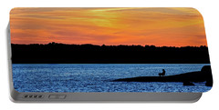 Sunset Fisherman  Portable Battery Charger