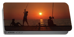 Sunset Fishermenr Portable Battery Charger