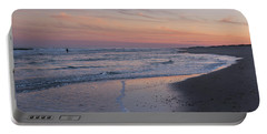 Portable Battery Charger featuring the photograph Sunset Fishing Seaside Park Nj by Terry DeLuco