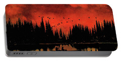 Sunset Flight Of The Ducks Portable Battery Charger