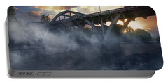 Sunset Fog At Caveman Bridge Portable Battery Charger by Mick Anderson