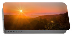 Sunset Fog Over The Pacific #1 Portable Battery Charger
