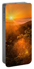 Sunset Fog Over The Pacific #2 Portable Battery Charger