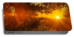 Sunset Fog Over The Pacific #3 Portable Battery Charger