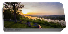Sunset From Boreman Park Portable Battery Charger