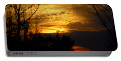 Sunset From Farm Portable Battery Charger