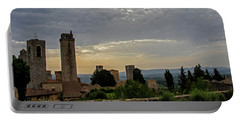 Portable Battery Charger featuring the photograph Sunset From San Gimignano by Jean Haynes
