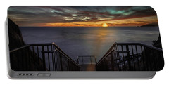 Sunset From Sandpiper Staircase Portable Battery Charger