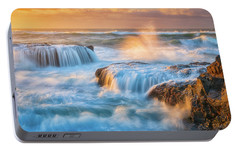 Portable Battery Charger featuring the photograph Sunset Fury by Darren White