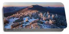 Sunset Glow On Franconia Ridge Portable Battery Charger
