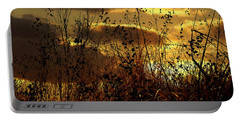 Sunset Grasses Portable Battery Charger by Julie Hamilton
