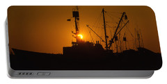 Portable Battery Charger featuring the photograph Sunset Harbor by Marie Leslie
