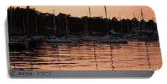 Portable Battery Charger featuring the photograph Sunset Harbor by Suzanne Luft