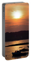 Portable Battery Charger featuring the photograph Sunset, Harpswell, Maine #20052 by John Bald