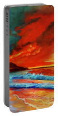 Sunset Hawaii Portable Battery Charger by Jenny Lee