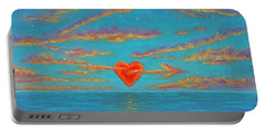 Sunset Heart 01 Portable Battery Charger