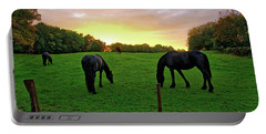 Sunset Horses Portable Battery Charger
