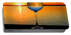 Sunset In A Glass Portable Battery Charger
