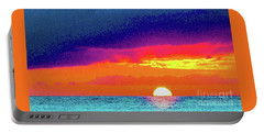Sunset In Abstract  Portable Battery Charger