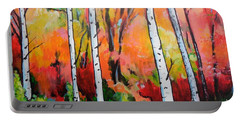 Sunset In An Aspen Grove Portable Battery Charger