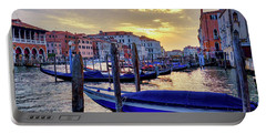 Portable Battery Charger featuring the photograph Sunset In Canal Grande by Fabrizio Troiani
