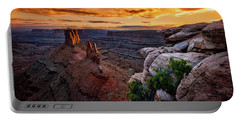 Sunset In Canyonlands Portable Battery Charger
