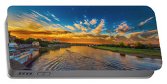 Portable Battery Charger featuring the photograph Sunset In Dresden by Pravine Chester