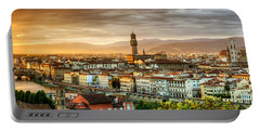 Sunset In Florence Portable Battery Charger