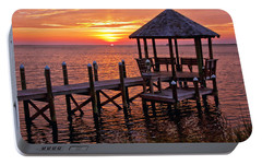 Portable Battery Charger featuring the photograph Sunset In Hatteras by Suzanne Stout